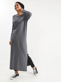 Gray - Cotton -  - Tunic