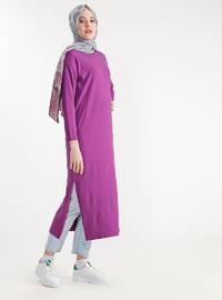 Purple - Cotton -  - Tunic