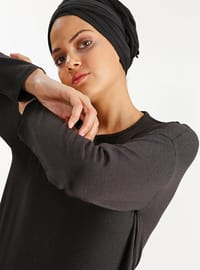Black - Cotton -  - Tunic