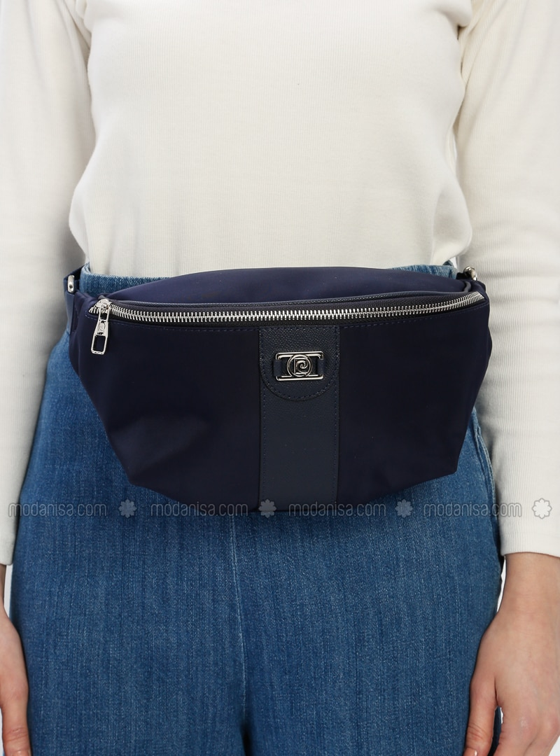Navy Blue - Clutch - Satchel - Bum Bag - Pierre Cardin