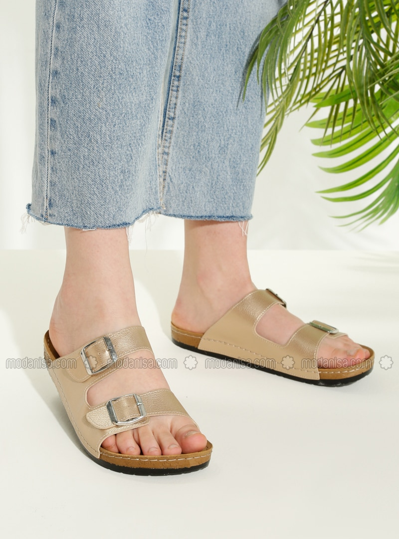 Gold - Sandal - Slippers - TWIGY