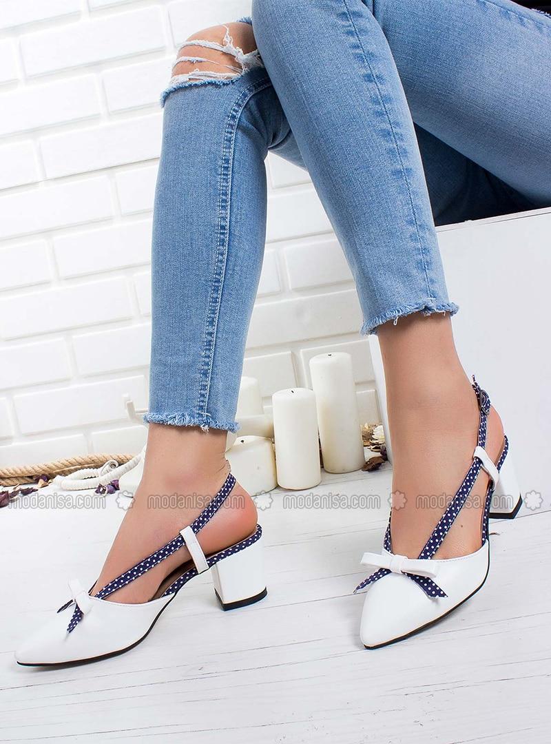Blue - White - High Heel - Heels