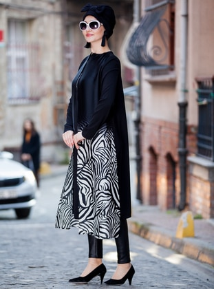 Black - White - Multi - Tunic