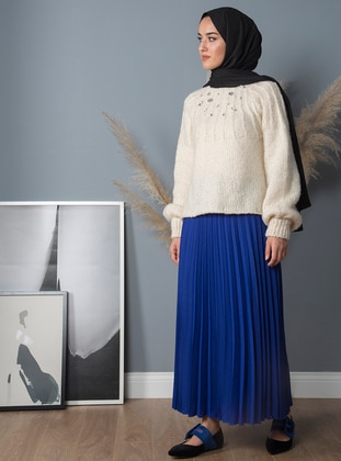 Saxe - Fully Lined - Crepe - Skirt