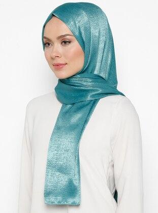 Turquoise - Plain -  - Shawl