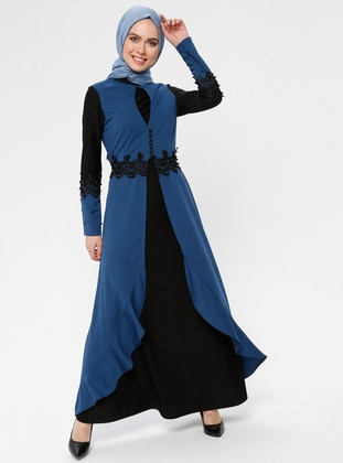 Indigo - Polo neck - Unlined - Dress