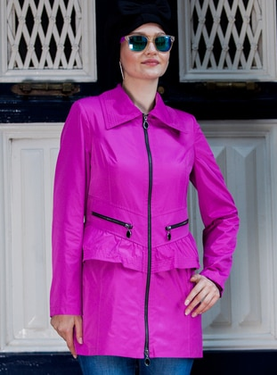Purple - Fully Lined - Point Collar - Topcoat