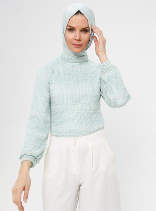 Mint - Multi - Polo neck - Blouses