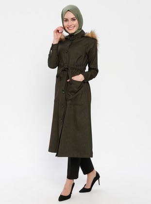 Khaki - Unlined - Button Collar - Topcoat