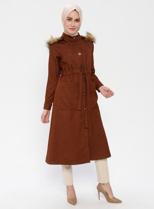 Tan - Unlined - Button Collar - Topcoat