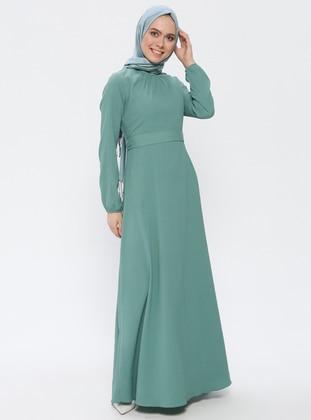 Mint - Round Collar - Unlined - Dress