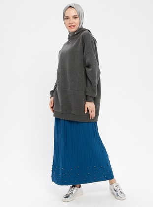 Turquoise - Unlined - Skirt