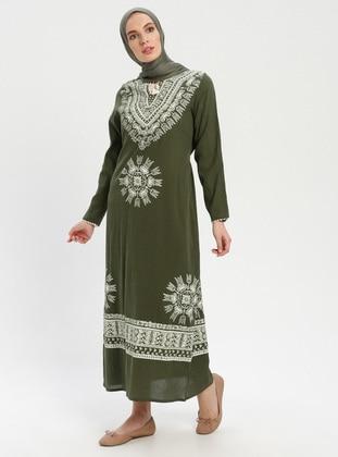 9d6c7bddc0834 Çıkrıkçı Tesettür Elbise Modelleri ve Fiyatları - Modanisa.com