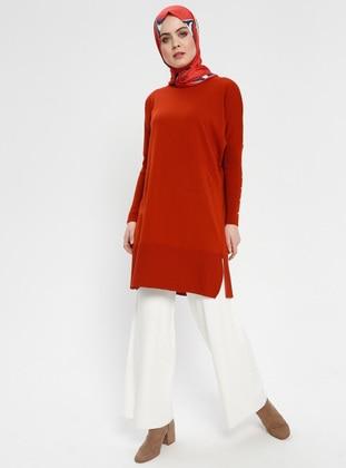 White - Ecru - Acrylic -  - Pants