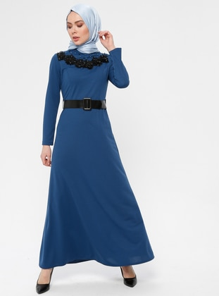 Indigo - Polo neck - Unlined - Dress