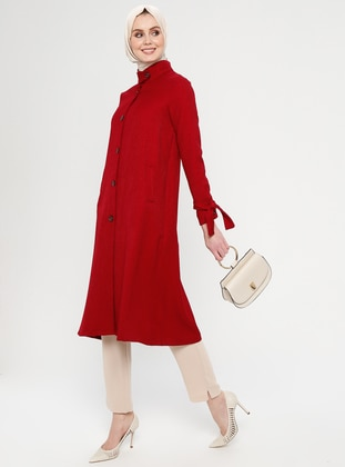 Red - Unlined - Button Collar - Topcoat
