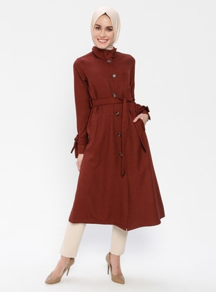 Terra Cotta - Unlined - Button Collar - Topcoat