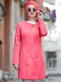 Coral - Fully Lined - Crew neck - Topcoat