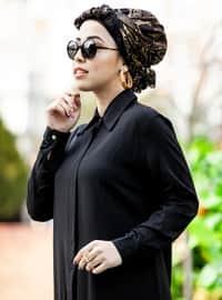 Black - Point Collar - Tunic