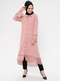 Powder - Unlined - Point Collar - Abaya
