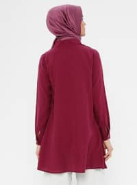 Plum - Stripe - Crew neck - Tunic