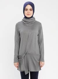 Gray - Polo neck - Tunic