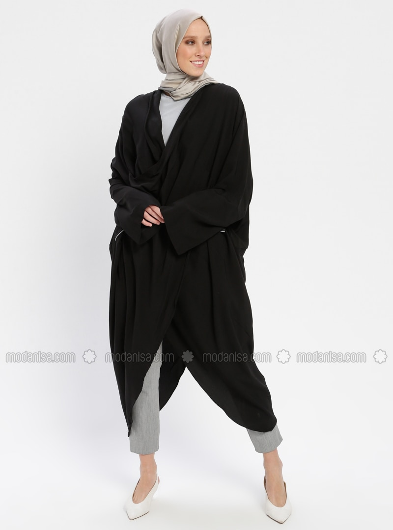 Black - Shawl Collar - Tunic