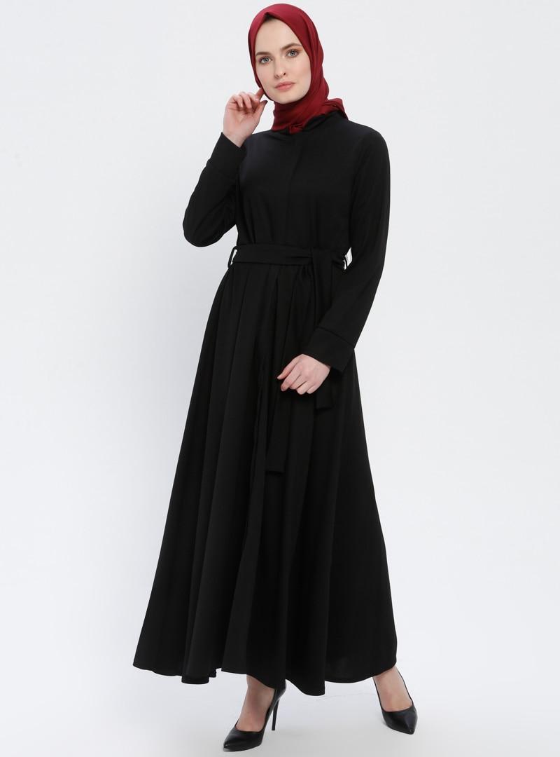 Tesettür Ferace Miss Cazibe Siyah Kadın 44