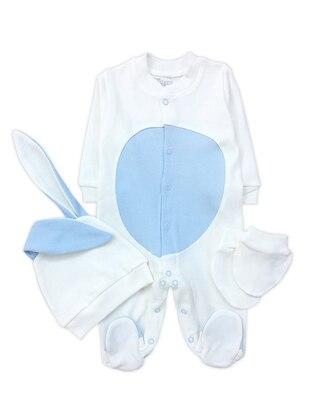 Crew neck - Cotton - Cream - Baby Suit