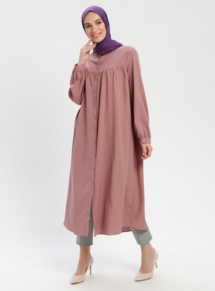 Dusty Rose - Button Collar - Tunic