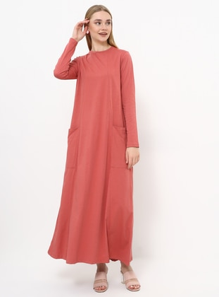 - Crew neck - Unlined - Cotton - Dress