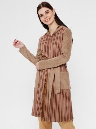 Camel - Stripe - Unlined - Topcoat