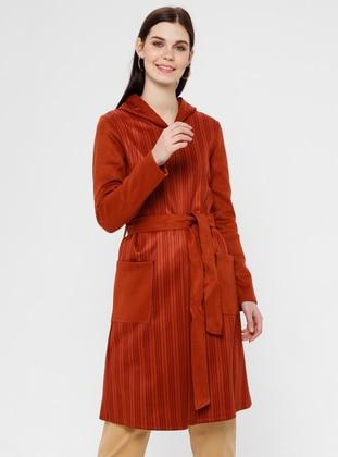 Terra Cotta - Stripe - Unlined - Topcoat