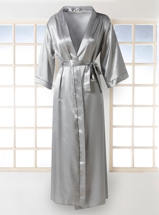 Gray - Morning Robe - Artış Collection