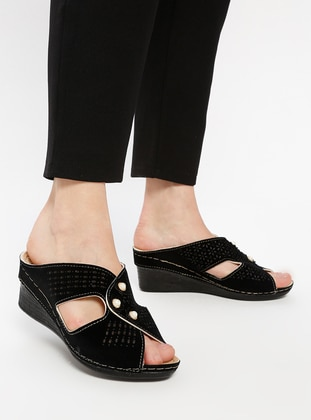 Black - Sandal - Slippers