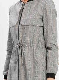 Multi - Plaid - Crew neck - Cotton - Topcoat