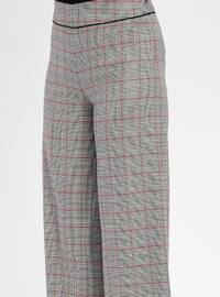 Multi - Plaid - Pants