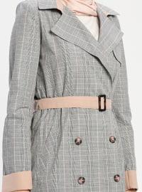 Multi - Plaid - Unlined - Shawl Collar - Cotton - Topcoat