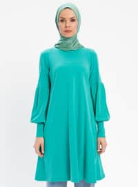 Green - Crew neck - Tunic