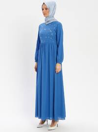 Saxe - Crew neck - Fully Lined - Dress