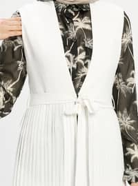 Ecru - Unlined - Shawl Collar - Vest