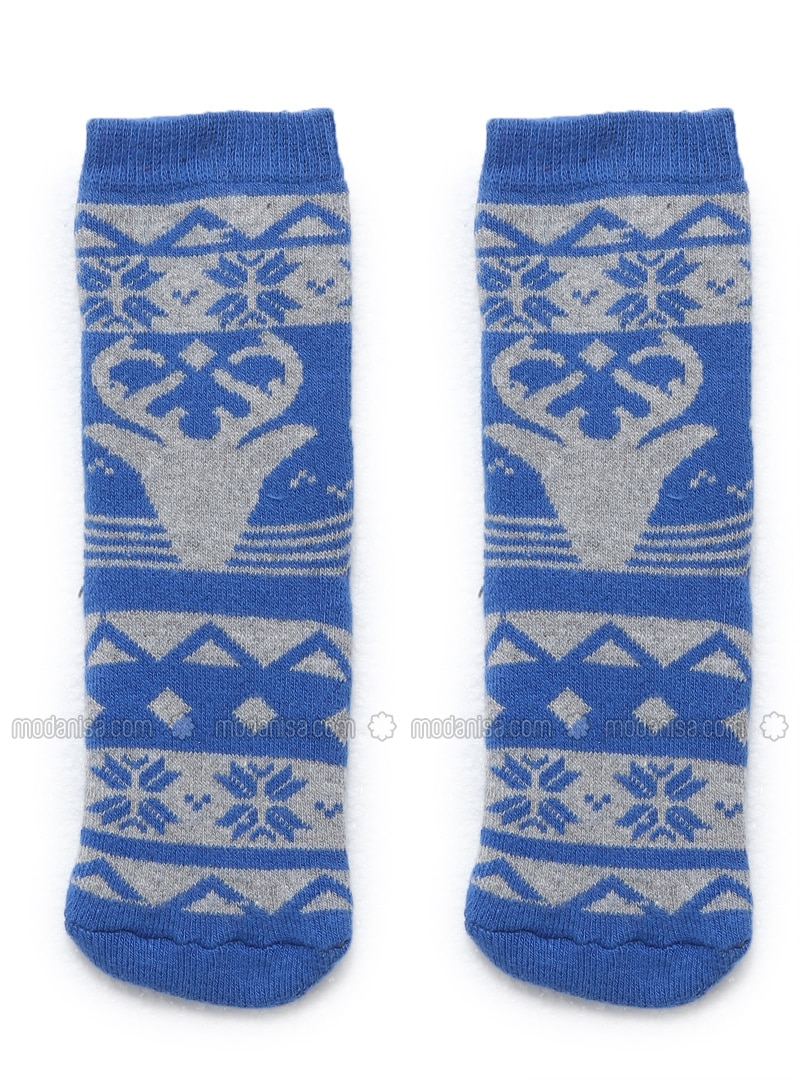 Blue - Navy Blue - Socks