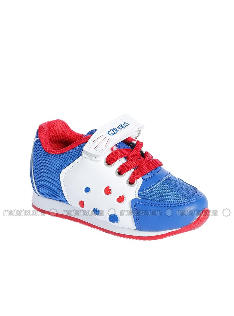 Jungs Sportschuhe Schuhe Weiß Royalblau für Yb7yf6gvI