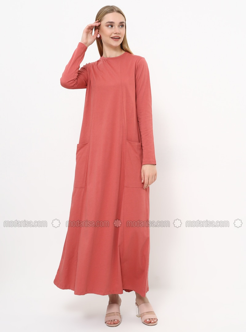 - Crew neck - Unlined - Cotton - Dress