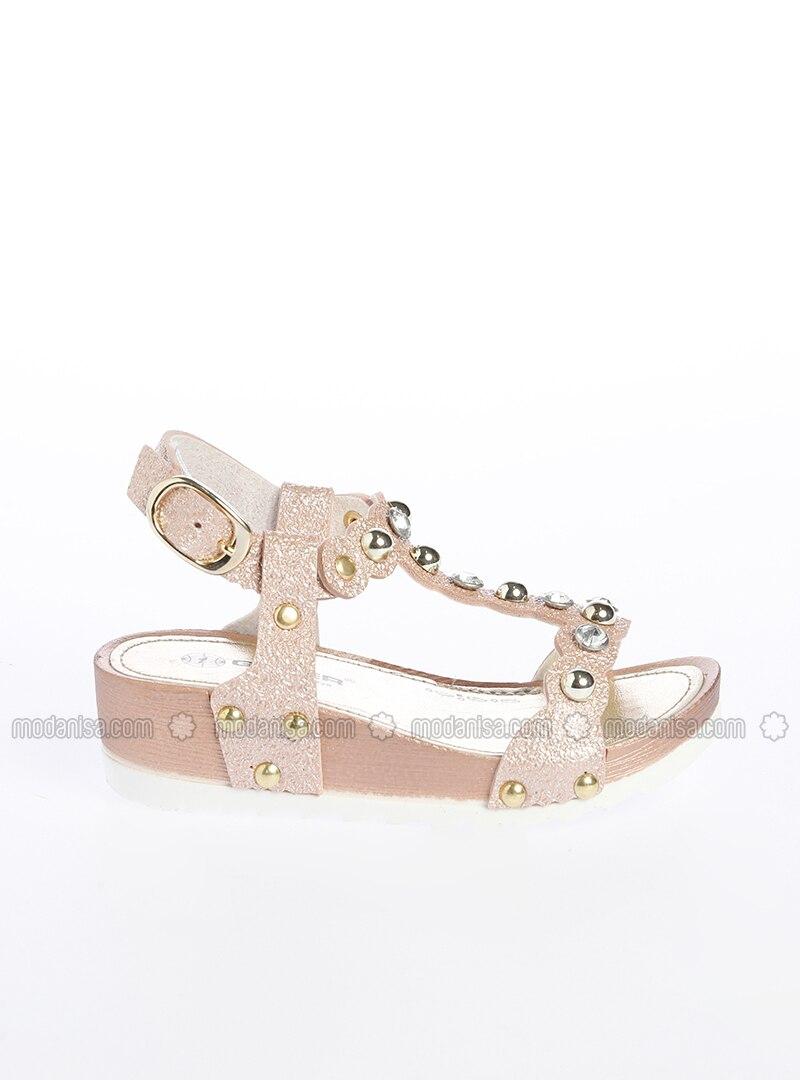 Fille Pour Chaussons Chaussures Doré Sandales hQCsdxBtr