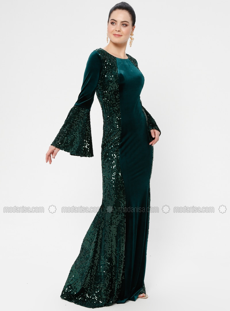Emerald - Fully Lined - Muslim Evening Dress