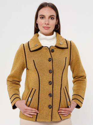 Mustard - Unlined - Point Collar - Jacket