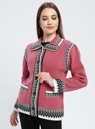 Dusty Rose - Ethnic - Unlined - Point Collar -  - Jacket