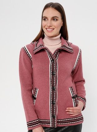 Dusty Rose - Ethnic - Unlined - Point Collar - Jacket