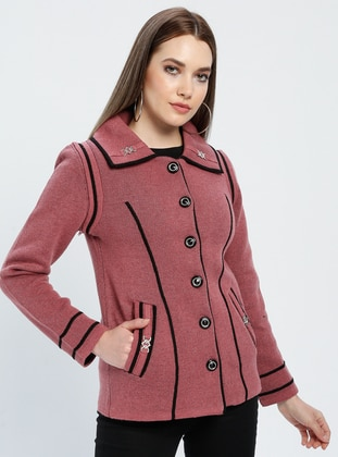 Black - Dusty Rose - Unlined - Point Collar -  - Jacket